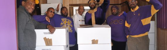 Pi Omega Chapter Donates Winter Coats to the Powell Recovery Center